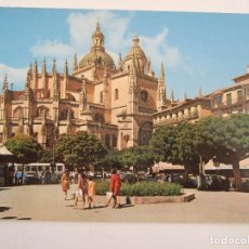 Postales: POSTAL SEGOVIA - PLAZA DEL GENERAL FRANCO Y CATEDRAL - 1969 - GARCIA GARRABELLA 100 - SIN CIRCULAR. Lote 81001704