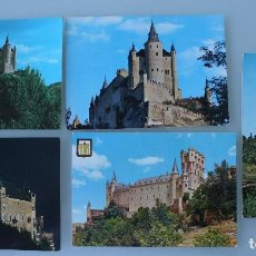 Postales: ANTIGUAS POSTALES SEGOVIA: CASTILO EL ALCAZAR - AÑOS 60 CIRCULADAS. Lote 83073648