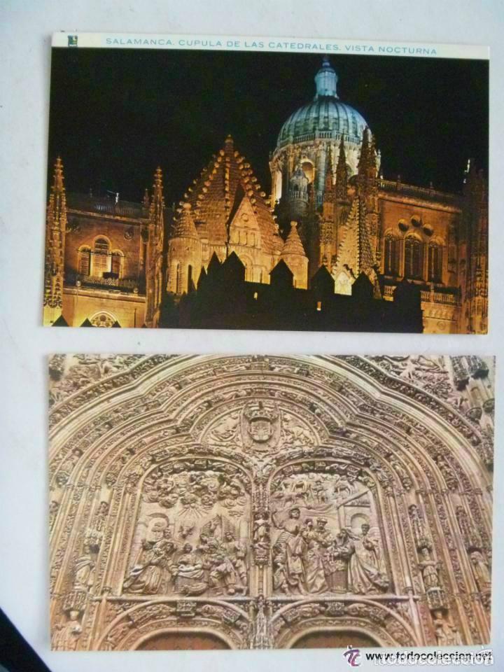 LOTE DE 2 POSTALES DE SALAMANCA : CATEDRALES. (Postales - España - Castilla y León Moderna (desde 1940))