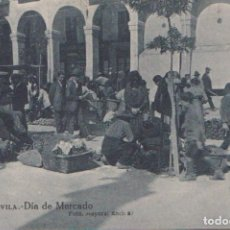 Postales: AVILA - DIA DE MERCADO. Lote 83682148