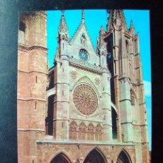 Postales: POSTAL CATEDRAL LEON, CASTILLA Y LEON - IMPRENTA G. A. COBAS. Lote 83745952