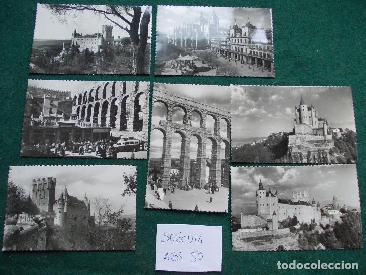 LOTE DE POSTALES DE LOS AÑOS 50 DE SEGOVIA (Postales - España - Castilla y León Moderna (desde 1940))