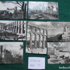 Postales: LOTE DE POSTALES DE LOS AÑOS 50 DE SEGOVIA. Lote 84155208