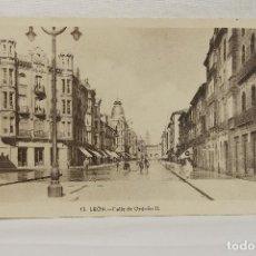 Postales: POSTAL CALLE DE ORDUÑO II, LEON, ANIMADA.. Lote 84463180