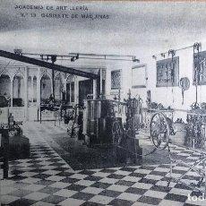 Postales: POSTAL DE LA ACADEMIA DE ARTILLERIA, SEGOVIA, SALA DE MAQUINAS. Lote 86663244