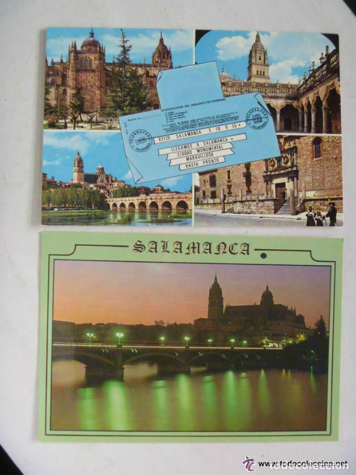 LOTE DE 2 POSTALES DISTINTAS DE SALAMANCA . (Postales - España - Castilla y León Moderna (desde 1940))