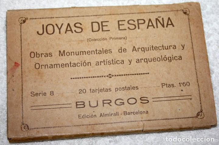JOYAS DE ESPAÑA BURGOS 20 POSTALES (FALTAN 2) EDICIÓN ALMIRALL BARCELONA (Postales - España - Castilla y León Antigua (hasta 1939))