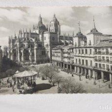 Postales: POSTAL SEGOVIA, PLAZA DEL GENERAL FRANCO, EDICION GARRABELLA. Lote 89286264
