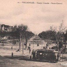 Cartoline: POSTAL 10 . VALLADOLID - CAMPO GRANDE - PASEO CENTRAL P. MUNDI/C. LEON - 4 . BUEN ESTADO. Lote 89558944