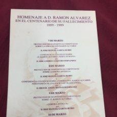 Postales: TARJETA ACTOS CENTENARIO IMAGINERO RAMÓN ÁLVAREZ ZAMORA 1989 SEMANA SANTA - RARA. Lote 92432285