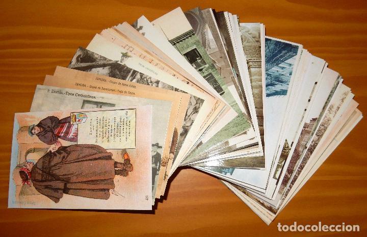 Postales: Lote 72 Reproducciones de Postales Antiguas de Zamora.La Opinión de Zamora.Caja Duero 2001 - Foto 5 - 92934900