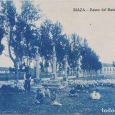 Postales: RIAZA (SEGOVIA) - PASEO DEL RASERO. Lote 93203610