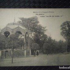 Postales: PALENCIA. PASEO SALON DE ISABEL II. SIN CIRCULAR.. Lote 93266585