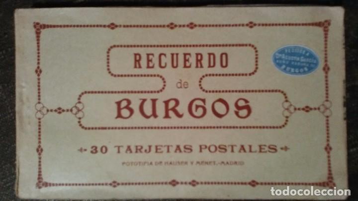 LIBRILLO DE TREINTA TARJETAS POSTALES RECUERDO DE BURGOS (Postales - España - Castilla y León Antigua (hasta 1939))