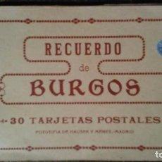 Postales: LIBRILLO DE TREINTA TARJETAS POSTALES RECUERDO DE BURGOS. Lote 93716145