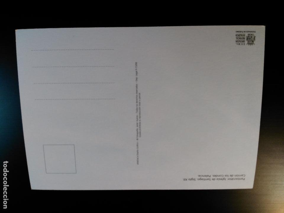 Postales: Postal de Pantocrato. Iglesia de Santiago. Palencia. Alusiva al Camino de Santiago. Sin circular - Foto 2 - 94324334