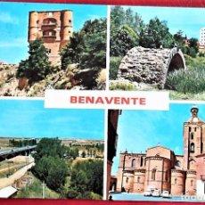 Postales: BENAVENTE (ZAMORA). 81 VISTAS VARIAS. ED. PARÍS. USADA CON SELLO.. Lote 94723563