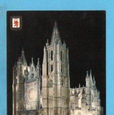 Postales: POSTAL DE LEON LA CATADRAL Nº3 EDITÓ ESCUDO DE ORO SIN CIRCULAR . Lote 95964451