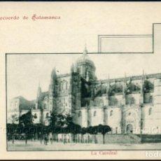 Postales: POSTAL RECUERDO DE SALAMANCA LA CATEDRAL . LIBRERIA CUESTA CA AÑO 1900 .. Lote 96452915