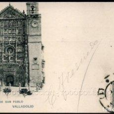Cartes Postales: POSTAL VALLADOLID FACHADA DE SAN PABLO . 204 HAUSER Y MENET CA AÑO 1900 . SELLO PELON ALFONSO XIII. Lote 96453407