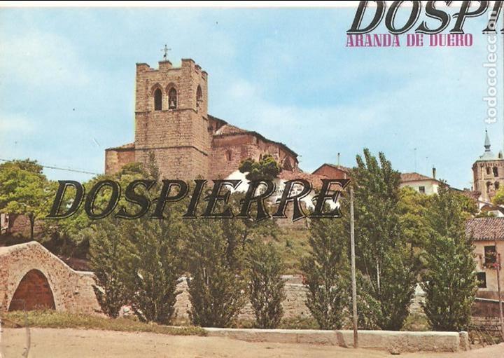 POSTAL, ARANDA DE DUERO-BURGOS, PARROQUIAL DE SAN JUAN Y PUENTE, ESCRITA (Postales - España - Castilla y León Moderna (desde 1940))