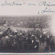 Postales: PEÑARANDA (SALAMANCA) - PLAZA DE TOROS. TORERO SEVILLANO.. Lote 97671055
