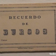 Postales: RECUERDO FOTOGRAFICO BURGOS 1943 10 TARJETAS POSTALES VISTAS DE LA CIUDAD. Lote 97688515