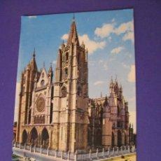 Postales: POSTAL DE LEON. CATEDRAL. ED. HIJOS DE F. ALONSO. SIN CIRCULAR.. Lote 98691343