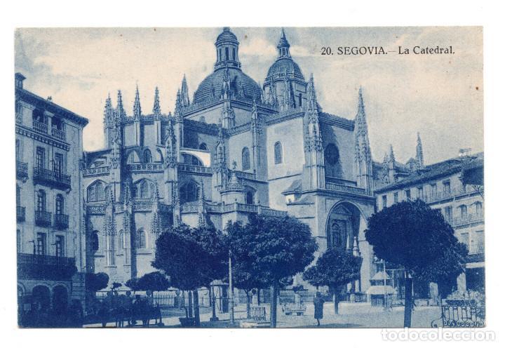 POSTAL - SEGOVIA - LA CATEDRAL (Postales - España - Castilla y León Antigua (hasta 1939))