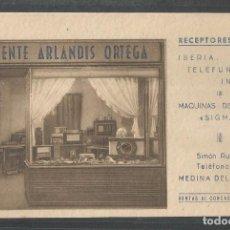 Postales: MEDINA DEL CAMPO - VICENTE ARLANDIS ORTEGA - RECEPTORES RADIO - MAQUINAS COSER - VALLADOLID - P23213. Lote 100532475