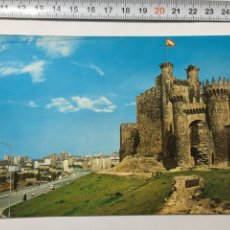 Postales: POSTAL. 38. PONFERRADA (LEON). CASTILLO. ARRIBAS. H. 1960. Lote 101498546