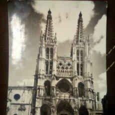 Postales: POSTAL BURGOS FACHADA PRINCIPAL DE LA CATEDRAL CIRCULADA EDICIONES SICILIA -ZARAGOZA. Lote 102285988