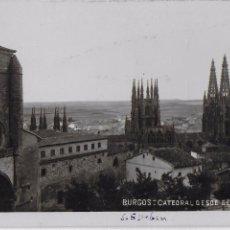 Postales: P- 7787. POSTAL BURGOS, CATEDRAL DESDE EL CASTILLO. . Lote 102775695