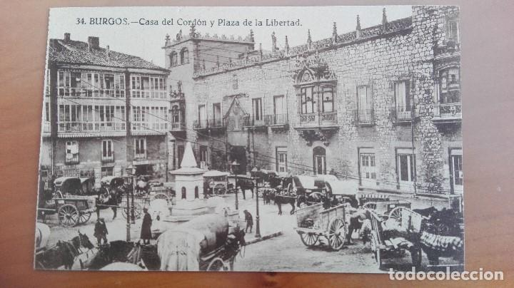 Postal Burgos Nº 34 Casa Del Cordon Y Plaza De La Libertad Edic Ursino Bartolome Castilla Y Leon