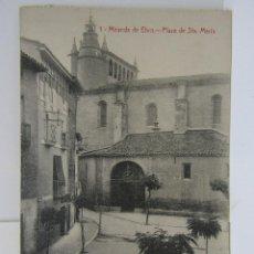 Postales: POSTAL MIRANDA DE EBRO (PZA. DE SANTAMARÍA) M. PERALTA. Lote 104259975