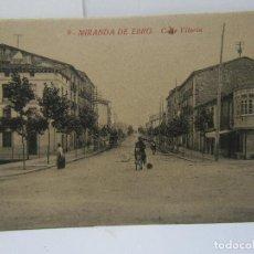 Postales: POSTAL MIRANDA DE EBRO (CALLE VITORIA) M. PERALTA. Lote 104260175