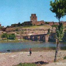 Postales: CIUDAD RODRIGO PARADOR ENRIQUE II SOBRE EL PUENTE ROMANO AÑO 1965. Lote 104309739