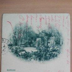 Postales: POSTAL BURGOS SIN NUMERAR PASEO DE LA ISLA CASCADA EDIC E.R. ( HAUSER Y MENET) CASTILLA Y LEON. Lote 104934395