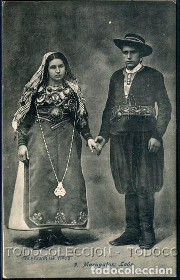 POSTAL LEON MARAGATOS COLECCION DE TIPOS 9 . LACOSTE CA AÑO 1910 (Postales - España - Castilla y León Antigua (hasta 1939))