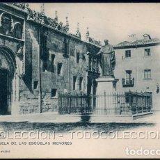 Postales: POSTAL SALAMANCA PLAZUELA DE LAS ESCUELAS MENORES . 201 HAUSER Y MENET . CA AÑO 1900. Lote 105998759