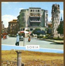 Postales: POSTAL SORIA - ASPECTO URBANO Y RUINAS DE NUMANCIA. Lote 106039739