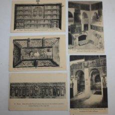 Postales: LOTE DE 5 ANTIGUAS POSTALES DEL MUSEO PROVINCIAL DE BURGOS. CASTILLA Y LEON. FOTPIA. HAUSER Y MENET. Lote 107188667