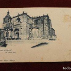 Postales: POSTAL CIUDAD RODRIGO, LA CATEDRAL HAUSER Y MENET. Lote 107222271