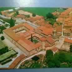 Postales: POSTAL SANTO DOMINGO DE SILOS BURGOS VISTA AÉREA DEL PUEBLO Y DEL MONASTERIO. Lote 107293276