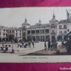 Postales: TARJETA POSTAL. BURGO DE OSMA. PLAZA MAYOR. M. ARRIBAS. Lote 107858255