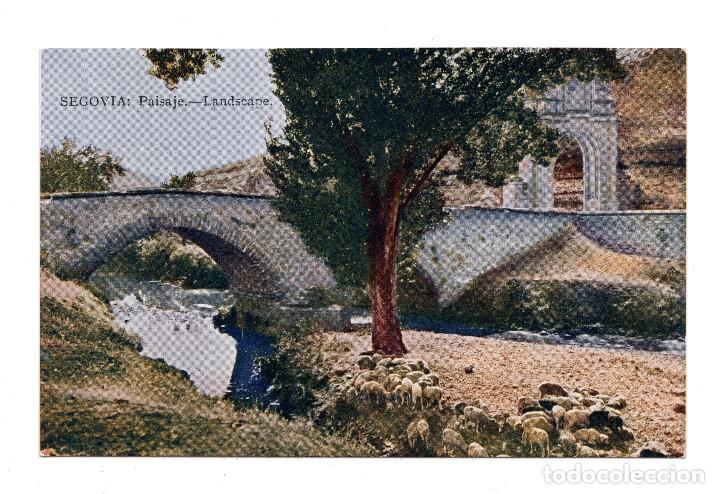 SEGOVIA.- PAISAJE. JUNTA DE TURISMO LO QUE DEBE VERSE - BLASS MADRID - MAPA (Postales - España - Castilla y León Antigua (hasta 1939))