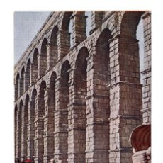 Postales: SEGOVIA.- EL ACUEDUCTO. JUNTA DE TURISMO LO QUE DEBE VERSE - BLASS MADRID - MAPA. Lote 108741499