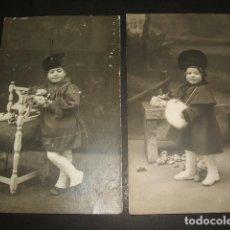 Postales: SALAMANCA ANSEDE Y JUANES FOTOGRAFO 4 TARJETAS POSTALES FOTOGRAFICAS RETRATO MISMA NIÑA HACIA 1910. Lote 109882423