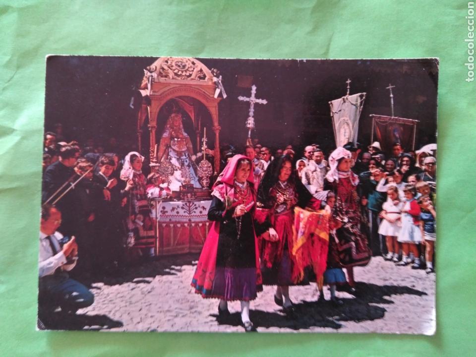 POSTAL LA ALBERCA 84 - SALAMANCA - OFRECIMIENTO DE UNA FAMILIA ALBERCANA (Postales - España - Castilla y León Moderna (desde 1940))