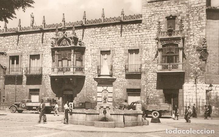 BURGOS Nº9 PLAZA DEL CORDÓN H.A.E. CIRCULADA EN 1962 (Postales - España - Castilla y León Moderna (desde 1940))
